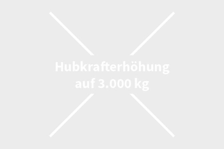 Hubkrafterhöhung auf 3.000 kg